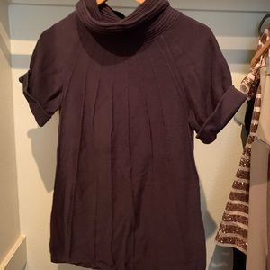 Gap Maternity Cowl Neck Eggplant Sweater